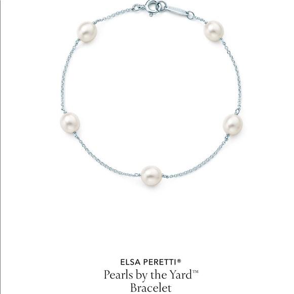 f3568bc6d4a11 Authentic Tiffany Elsa Peretti pearl bracelet